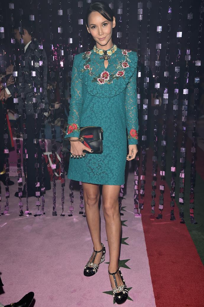 Amanda Strang at Gucci.