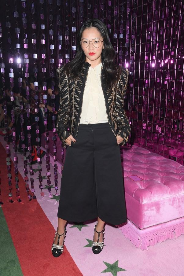 Tina Leung at Gucci.