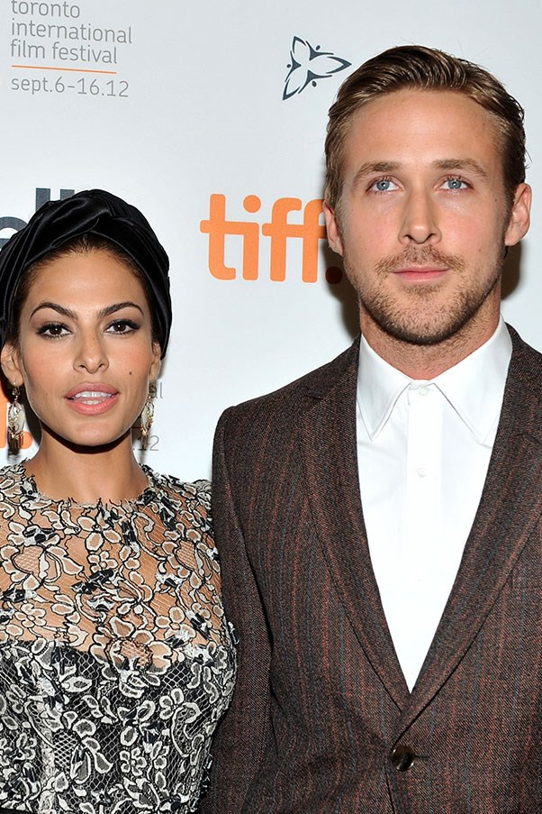 """<strong>Eva Mendes and Ryan Gosling</strong><br><br> This notoriously private duo (<a href=""""http://www.harpersbazaar.com.au/news/celebrity-tracker/2016/9/ryan-gosling-eva-mendes-married/"""">are they married?!</a> no-one knows) are parents to two genetically #blessed daughters: Amada and Esmerelda."""