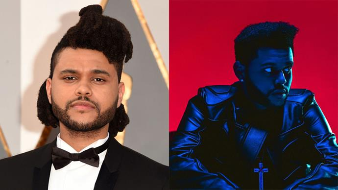 """The Weeknd singer Abel Tesfaye used his <a href=""""https://www.instagram.com/p/BKoRJ6XhFFK/"""">latest album</a> cover <em>Starboy</em> (first single from which will be released November 25, yas) to debut a seriously shorter, and sharper, new 'do."""