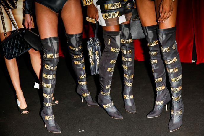 <strong>Backstage</strong> <br><br> They've taken the season's obsession with over-the-knee boots to a new level.