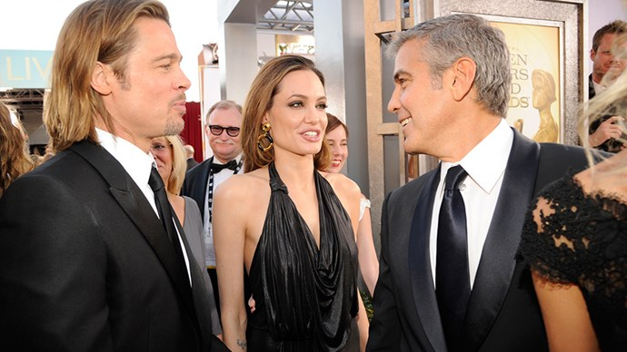 """<strong>George Clooney finds out about the divorce from a CNN reporter</strong><br><br> <em>CNN</em> reporter Richard Roth actually broke the news of the couple's divorce to George Clooney during a filmed interview. His reaction basically mirrored the rest of the world's: shock. """"I didn't know that. Wow,"""" he said. """"That's a sad story and unfortunate for the family... I feel very sorry to hear that. This is the first I've heard of it.""""<br><Br> Clooney and Pitt are close friends, having starred in the <em>Ocean's Eleven</em> franchise together. You can watch his reaction <a href=""""http://edition.cnn.com/2016/09/20/entertainment/george-clooney-brad-angelina-divorce/index.html"""">here</a>."""