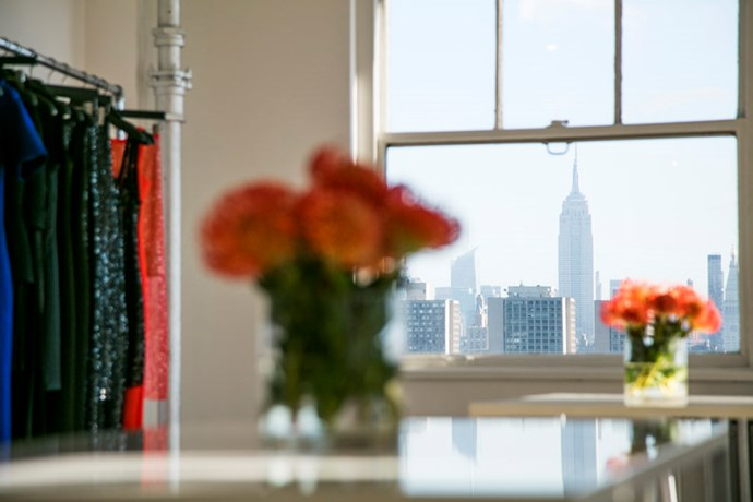 "<strong>HB: What features do you think makes this studio feel different from a standard office space?</strong> <br><br> DL: <em>""When finding a design space, natural light was the most important thing to me. The view is also spectacular; we're on the 19th floor, facing north, with views across Manhattan."" </em>"