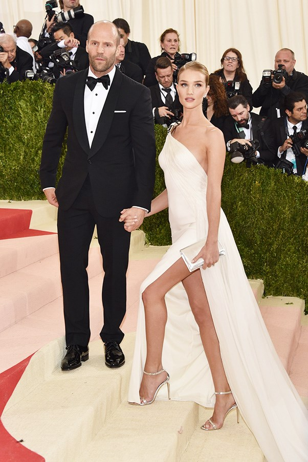 <strong>Jason Statham and Rosie Huntington-Whiteley</strong><br><br> The British power-couple met back in 2010 and announced their engagement at the Golden Globes this year.