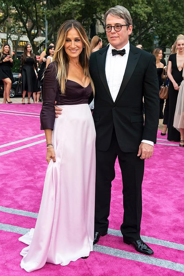 <strong>Matthew Broderick and Sarah Jessica Parker</strong><br><br> Unlike the rocky relationship of Carrie Bradshaw and Mr. Big, Sarah Jessica Parker and Matthew Broderick have been going strong since their 1997 nuptials.