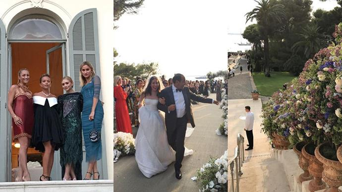 Inside the celebrity-filled, $6.5 million wedding of two billionaire heirs (in the South of France, no less!).