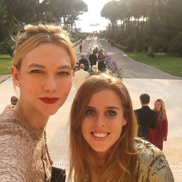 "<strong>The guests</strong><br><br> Karlie Kloss and Princess Beatrice of York<br><br> Instagram: <a href=""https://www.instagram.com/p/BKyNjFmgv2f/?taken-by=karliekloss&hl=en"">@karliekloss</a>"