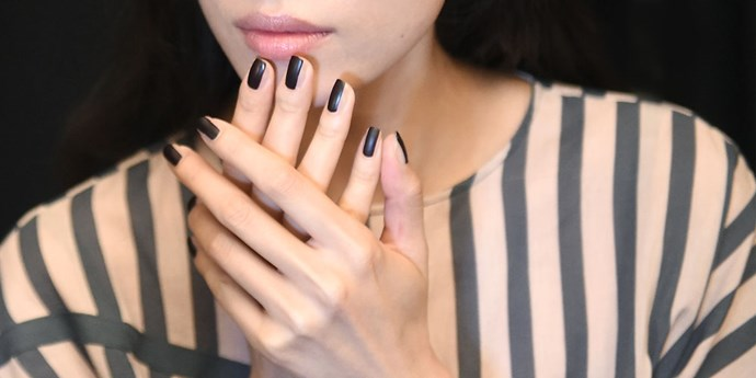 Manicurist Jin Soon Choi shows us how to make nails look instantly longer by sweeping a deep colour down the middle of the nail and a lighter colour on the sides. <br><br> Check out our gallery to see how the trend works for yourself.