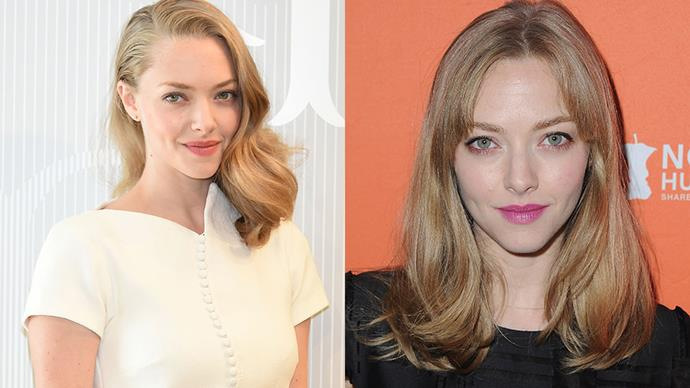 <strong>Amanda Seyfried</strong><br><br> The newly-engaged actress stepped out with a cool-girl set of subtle bangs at a charity event in Los Angeles.