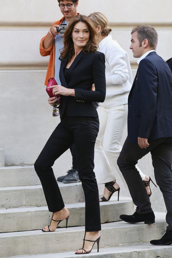 Carla Bruni-Sarkozy at Balmain
