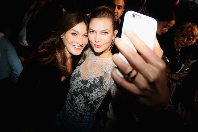 Carla Bruni-Sarkozy and Karlie Kloss