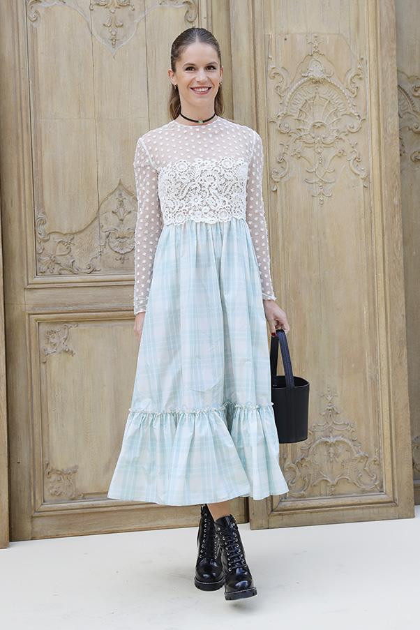 Eugenie Niarchos at Valentino