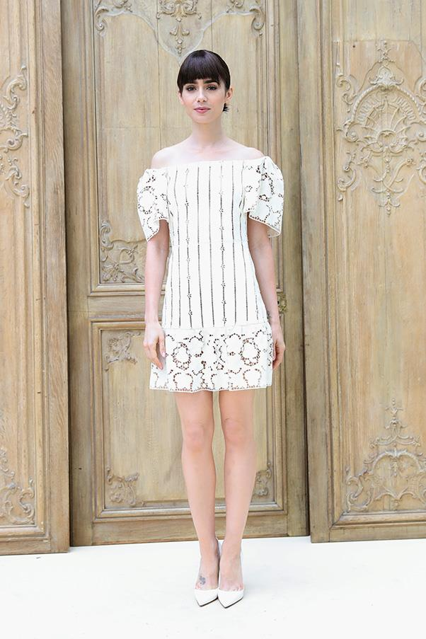 Lily Collins at Valentino