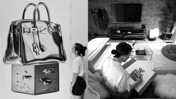 """<strong>CJ Hendry</strong><br><br> This Brisbane-bred, New York-based prodigy is taking the art world by storm with her incredible, photograph-like drawings (usually of luxury fashion items). Kanye West and Vera Wang are among her client list, and her price tag fetches up to $80,000 apiece. <br><br> Instagram: <a href=""""https://www.instagram.com/cj_hendry/?hl=en"""">@cj_hendry</a>"""