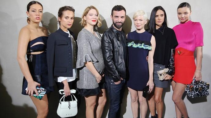 Louis Vuitton SS 17 front row celebrities