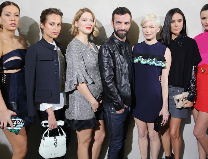 Louis Vuitton SS 17 front row celebrities