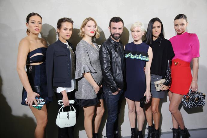 Nicolas Ghesquiere drew a stellar front row crowd for Louis Vuitton's spring/summer 2017 Paris fashion week show. Let's take a gander, shall we?