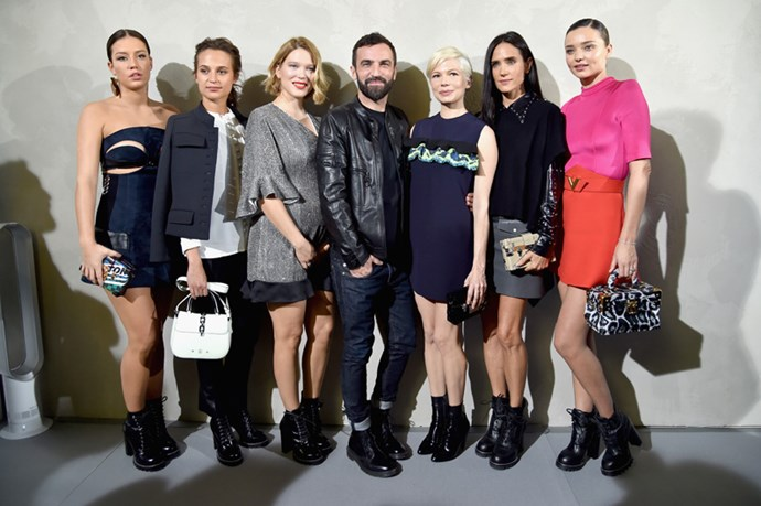 Adele Exarchopoulos, Alicia Vikander, Lea Seydoux, Nicolas Ghesquiere, Michelle Williams, Jennifer Connelly and Miranda Kerr at Louis Vuitton.