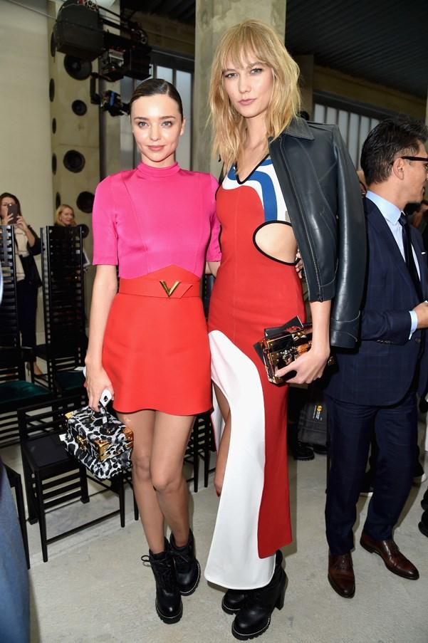 Miranda Kerr and Karlie Kloss at Louis Vuitton.