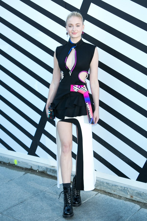 Sophie Turner at Louis Vuitton.