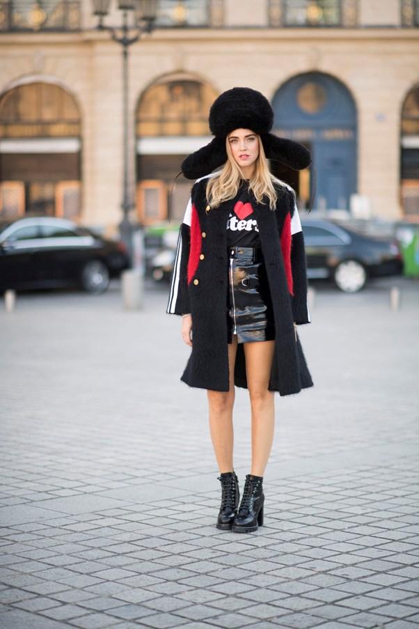 Chiara Ferragni at Louis Vuitton.