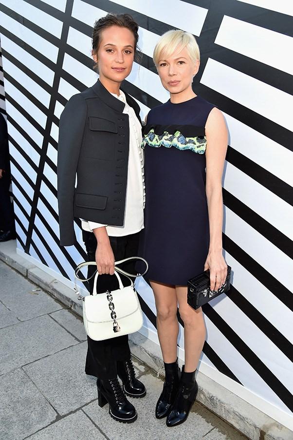 Alicia Vikander and Michelle Williams at Louis Vuitton.