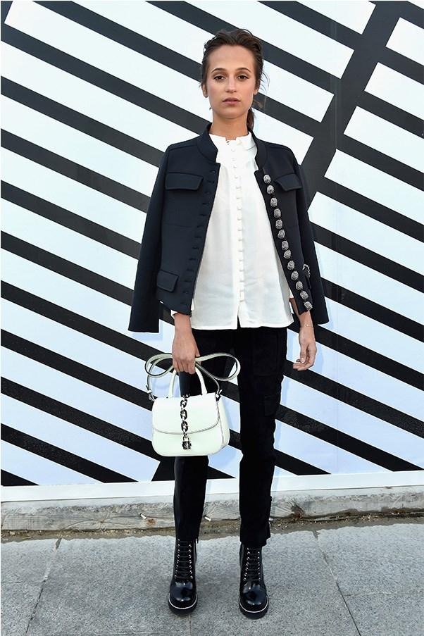 Alicia Vikander at Louis Vuitton.