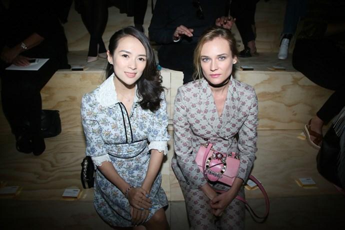 Zhang Ziyi and Diane Kruger at Miu Miu.