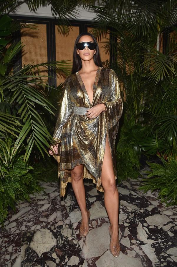 Kim Kardashian West at the Balmain after party.
