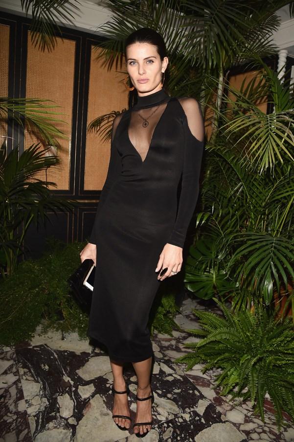 Isabeli Fontana at the Balmain after party.