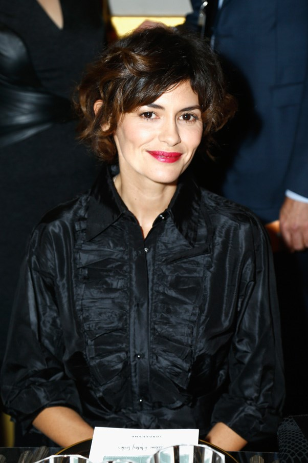 Audrey Tautou at the Longchamp Maison Saint-Honore reopening party.