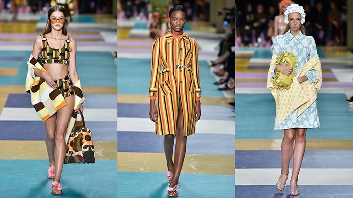 Miu Miu's spring '17 collection marked the end of fashion month, and it celebrated the occasion with a playful collection of poolside appropriate garb, sleek coats and (obviously) killer accessories. Here, we celebrate the collection by zooming in on the 11 pieces we loved the most.