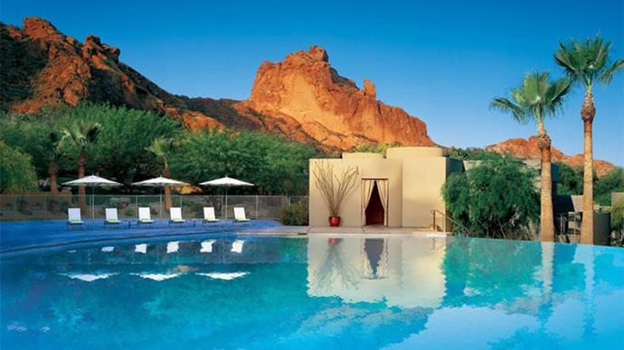 "<a href=""http://www.sanctuaryoncamelback.com/"">Sanctuary Camelback Mountain</a> <br><br> Where: Arizona, USA. <br><br> What: An award-winning resort and spa. <br><br> Why: Offering 53 acres of privacy, the resort offers unparalleled views of Paradise Valley. Jay Z and Beyoncé honeymooned here — need we say more?"