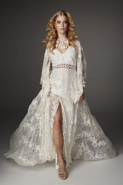 "<strong>RUE DE SEINE</strong> <br><br> ""Hunter"" gown <br><br> <a href=""http://ruedeseine.com/"">Ruedeseine.com</a>"
