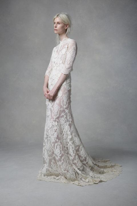 """<strong>SAMUELLE COUTURE</strong> <br><br> """"Isabella"""" fit-and-flare gown, $12,500 <br><br> <a href=""""http://www.samuellecouture.com/"""">Samuellecouture.com</a>"""