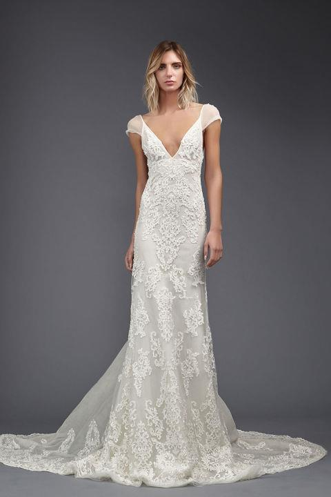 """<strong>VICTORIA KRIYAKEDES</strong> <br><br> """"Raquel"""" gown, $7,480. <br><br> <a href=""""http://www.victoriakyriakides.co.uk/"""">Victoriakriyakedes.com</a>"""