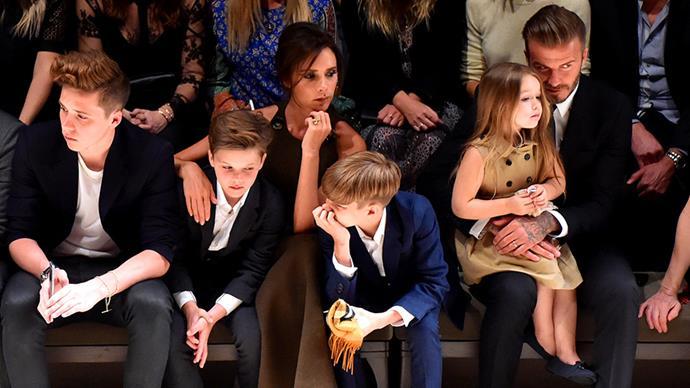 Victoria Beckham: Brooklyn, Cruz, Romeo and Harper.
