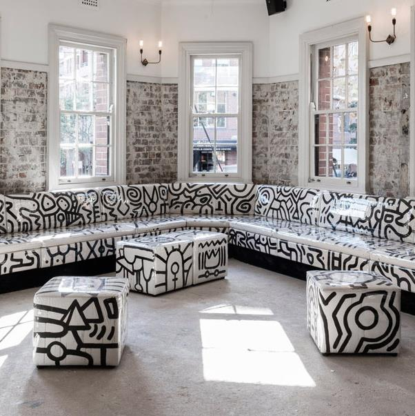 """<strong><a href=""""http://dolphinhotel.com.au/"""">The Dolphin Hotel</a></a></strong> <br><br> <strong>Location:</strong> Surry Hills <br><br> Whether its the edgy monochrome public par or paint splattered outdoor area, there is no corner of The Dolphin that isn't Insta-worthy. When you're there, make sure to get a cocktail ASAP. <br><br> <a href=""""https://www.instagram.com/thedolphinsurryhills/"""">@thedolphinsurryhills</a>"""