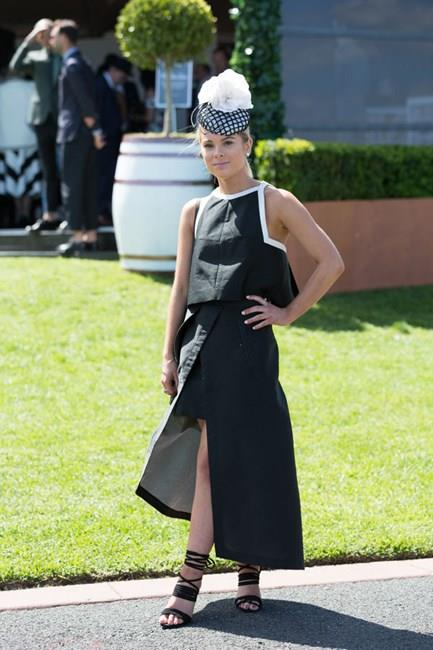 <strong>Monochrome</strong> <br><br> While most reserve monochrome exclusively for Derby Day, this year many have broken the fashion rules to don black and white on other days of the racing season. <br><br> Chloe Foskett, Caulfield Guineas Day