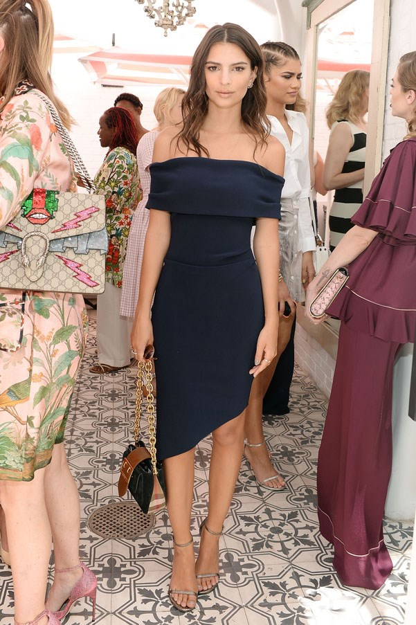 <strong>Bec & Bridge</strong> <br><br> Emily Ratajkowski wore this chic Bec & Bridge navy number for Glamour's game changer lunch.