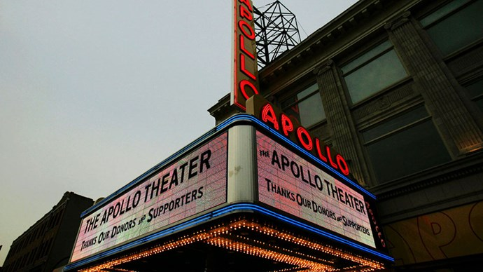 <strong>Apollo Theatre</strong> <br><br> Harlem's Apollo Theater has been a New York landmark since 1983, but it's been an historic venue for musicians since the 1930s. The stage has seen such legends like Aretha Franklin, Billie Holiday and Miles Davis, and it's still an iconic theatre worth the trip uptown.