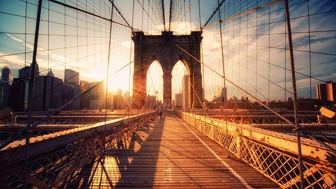 <strong>Walk the Brooklyn Bridge</strong> <br><br> New York's most iconic and recognisable bridge is, of course, also its most crowded. The bridge offers scenic skyline views that draws a lot of tourists, so aim for early morning if you want to avoid the rush. Though the breathtaking sunset in the early evening might just be worth dealing with a few extra people.