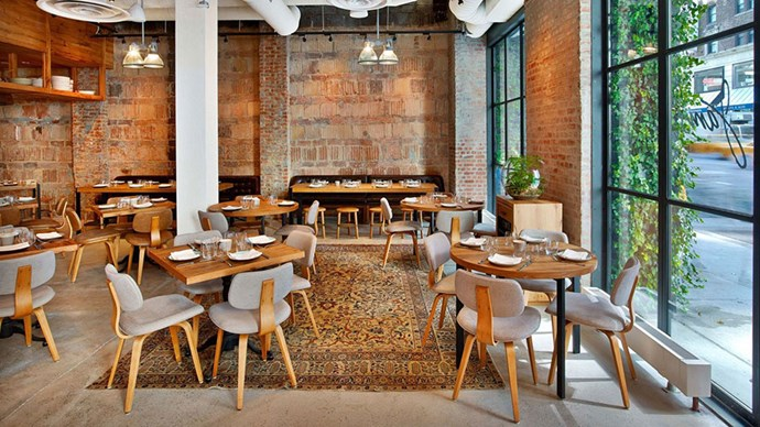 <strong>Jams</strong> <br><br> The latest from Jonathan Waxman is a semi-revival of his famous 1980s uptown restaurant of the same name, Jams. Akin to the original, Waxman's new spot is all about organic, locally-sourced ingredients and a fresh California vibe. The ambience of the space (housed in 1 Hotel Central Park) is perfectly suited to the rustic-meets-modern motif with its metal-framed floor-to-ceiling windows, concrete floors, and exposed brick and ductwork. Also present on this menu, the kale salad from Barbuto that we cannot seem to get enough of.