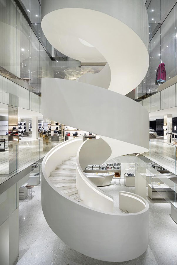 <strong>Barneys New York</strong> <br><br> In addition to their New York flagship on the Upper East Side, Barneys New York recently reopened its original downtown location in Chelsea, and made sure it was top-of-the-line all the way. The space is modern and sleek, letting the clothes and accessories do all the talking. In the center is a massive white spiral staircase that serves as a centerpiece for it all—and makes for a very cool Instagram shot. After a leisurely jaunt through the racks, stop in at Barney's famous eatery, Fred's, for a coffee or one of their signature salads.