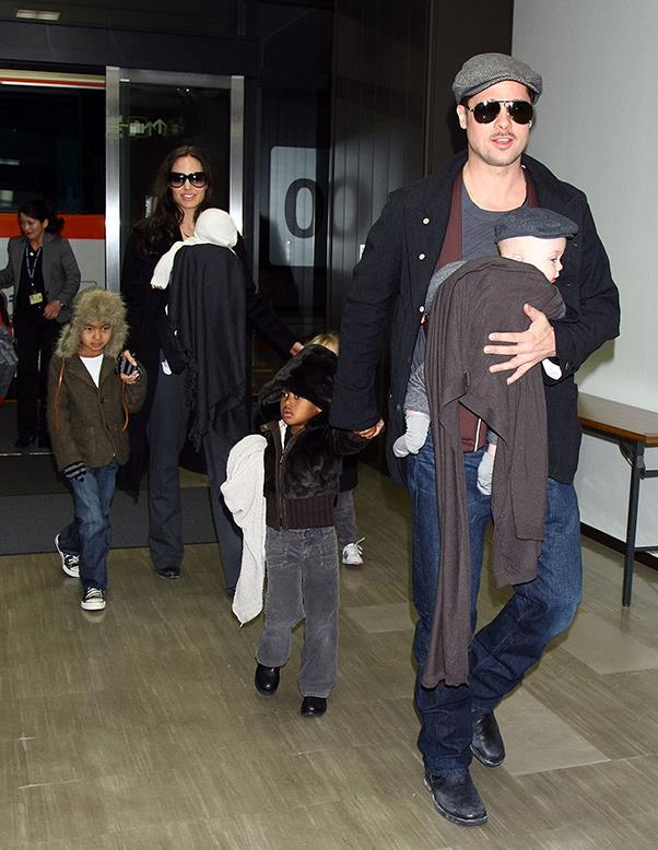 """<strong>Brad Pitt reunites with his kids</strong> <br><br> Brad Pitt has reunited with his children for the first time since Angelina Jolie filed for divorce on September 19, 2016. According to <em><a href=""""http://people.com/movies/angelina-jolie-brad-pitt-agree-to-temporary-child-visitation-plan/"""">People</a></em>, a therapist was present during the visit, adhering to guidelines laid out by the Los Angeles County Department of Children and Family Services. A source close to Pitt has said that he will do whatever it takes to spend more time with the kids, after allegations that he was verbally abusive to son Maddox. """"Brad loves his children more than anything in this world, and they matter more than anything else to him,"""" a source told <em><a href=""""http://people.com/movies/brad-pitt-reunites-with-his-kids/"""">People</a></em>. """"He will do whatever it takes to be with them, now and always."""" While Angelina has requested sole custody of the six children, Pitt wants shared custody."""