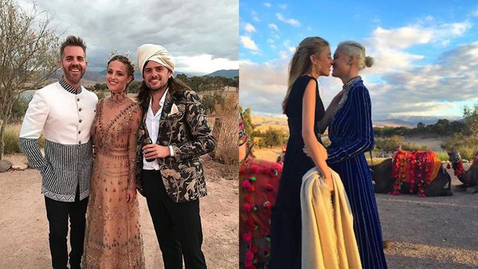 Inside the incredible location wedding of actress Dianna Agron and Mumford and Sons member Winston Marshall.