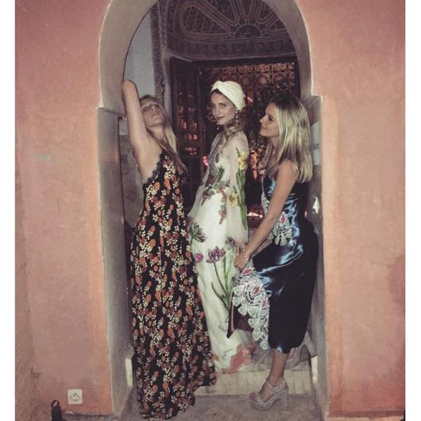 """<strong>Dianna Agron in Gucci and two friends at a pre-wedding event</strong><br><br> Instagram: <a href=""""https://www.instagram.com/p/BLoUbIjg-6s/?taken-by=tracydoob"""">@tracydoob</a>"""
