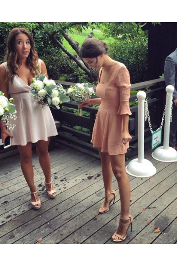 <strong>Emily Ratajkowski</strong><br><br> The model posted this adorable snap to Instagram over the weekend, with the caption 'bridesmaids'. We don't who the wedding was for, but we do know that Emily wore a dress she co-designed for label Christy Dawn (it's unsurprisingly called 'The Emily' and sold out immediately).<br><br> Image: Instagram @emrata