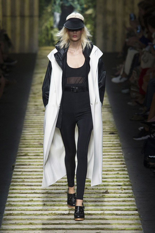 <strong>High Contrast Sports</strong> <br><br> Fashion houses continue to mine inspiration from women's growing fixation on athletic gear for the real world, with designers like Alexander Wang and Proenza Schouler pushing the story further with innovative shapes and fabrics done up in stark black and white. Pictured: Max Mara