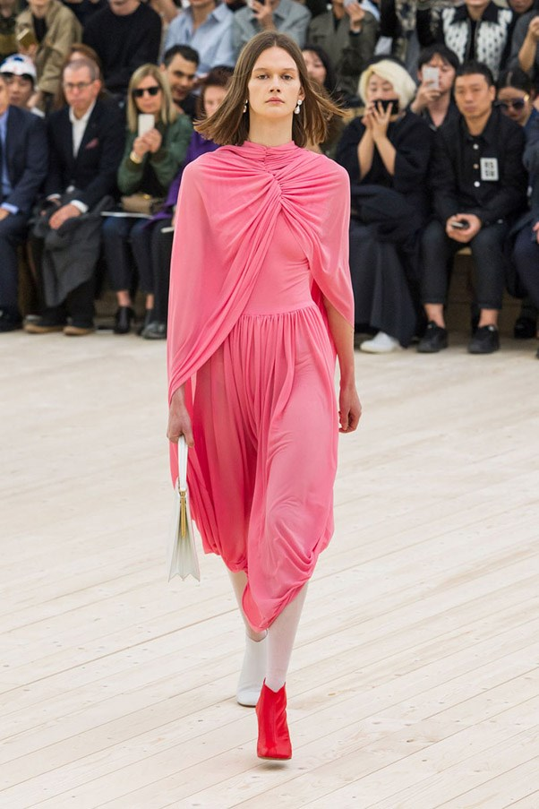 <strong>Rose Coloured Lens</strong> <br><br> The colour for Spring is doubtlessly any shade of pink—but don't expect anything too twee.  In the deft hands of Phoebe Philo at Celine and Pierpaolo Piccioli at Valentino, these rosy hues are all about strong femininity and not girlish repose. Pictured: Céline